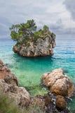 Famous rock island of Brela Royalty Free Stock Photos