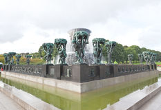 The famous rock sculpture park in Oslo Royalty Free Stock Photo