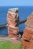 Famous rock Tall Anna on Heligoland Royalty Free Stock Image