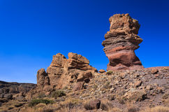 Famous rocks of Roques de Garcia, Tenerife stock photo