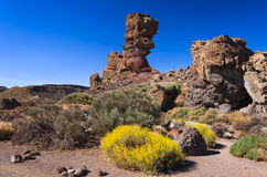 Famous rocks of Roques de Garcia, Tenerife Royalty Free Stock Photo