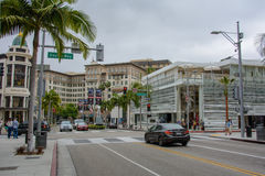 Famous Rodeo Drive in Beverly Hills, Los Angeles royalty free stock photo