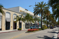Famous Rodeo drive street Stock Photo