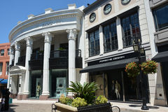 Famous Rodeo drive street Royalty Free Stock Photos