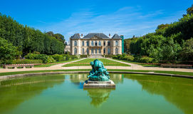 Famous Rodin museum and gardens in Paris,France Stock Image