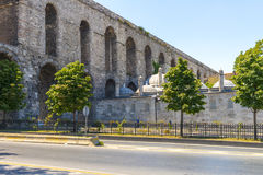 The famous Roman aqueduct in Istanbul, Stock Photo