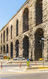 The famous Roman aqueduct in Istanbul, Stock Photography
