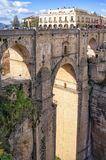 Ronda Roman bridge and canyon, Andalucia, Spain stock image