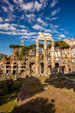 Famous Roman ruins in Rome, Capital city of Italy Stock Photos
