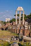 Famous Roman ruins in Rome, Capital city of Italy Royalty Free Stock Photo