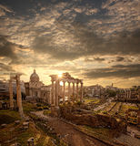 Famous Roman ruins in Rome, Capital city of Italy Royalty Free Stock Photography
