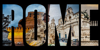 Famous roman sights Stock Photos
