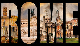 Famous roman sights Royalty Free Stock Images
