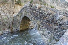 Famous Roman stone bridge Stock Photo
