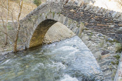 Famous Roman stone bridge Stock Photography