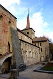 Famous Romanesque church stock image