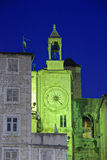 Famous Romanesque tower clock in Split Stock Images