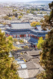 The famous rooftop in Lijiang, China Royalty Free Stock Images