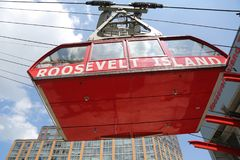 The famous Roosevelt Island Tramway Royalty Free Stock Images