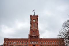 Famous Rotes Rathaus, Meaning Red City Hall In German Language,. Berlin, Germany Royalty Free Stock Photos