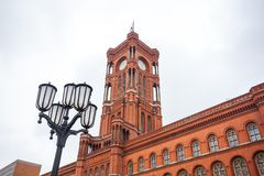 Famous Rotes Rathaus, Meaning Red City Hall In German Language,. Berlin, Germany Stock Photography