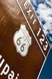 The famous Route 66 Stock Photos