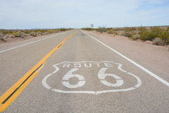 Famous Route 66 landmark on the road Stock Photography