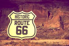 Famous Route 66 Sign Royalty Free Stock Photography