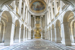Famous Royal Chapel inside Versailles, France. Paris - August 31: Famous Royal Chapel inside Versailles on August 31, 2013 in Paris, France Stock Photo