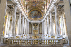 Famous Royal Chapel inside Versailles, France. Paris - August 31: Famous Royal Chapel inside Versailles on August 31, 2013 in Paris, France Royalty Free Stock Photography