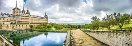 Famous Royal Monastery Of San Lorenzo De El Escorial Near Madrid, Spain Royalty Free Stock Image