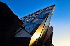 Famous Royal Ontario Museum. Toronto, Canada-Royal Ontario Museum at sunset stock photos