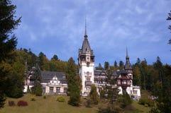 Famous royal Peles castle, Sinaia, Romania. Peles Castle – October 05, 2014 at Sinaia, Romania Royalty Free Stock Photography