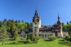 Famous royal Peles castle,Sinaia,Romania. Beautiful royal Peles castle,Sinaia,Romania Stock Photography