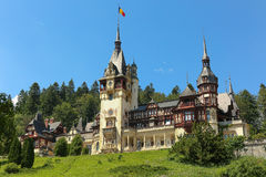 Famous royal Peles castle,Sinaia,Romania. Beautiful royal Peles castle,Sinaia,Romania Royalty Free Stock Photos