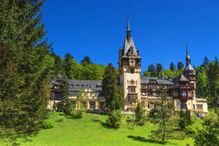 Famous royal Peles castle,Sinaia,Romania Royalty Free Stock Images