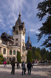 Famous royal Peles castle, Sinaia, Romania Stock Photography