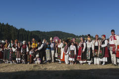 Famous rozhen folklore festival in bulgaria Royalty Free Stock Photography