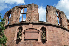 Famous ruin of castle Heidelberg Royalty Free Stock Photography