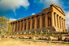 Famous ruins of Concordia Temple Royalty Free Stock Image