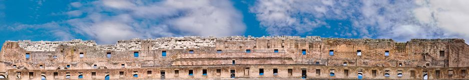 Famous Ruins panorama Stock Image