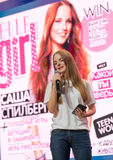 Famous Russian blogger and vlogger Sasha Spilberg Stock Images
