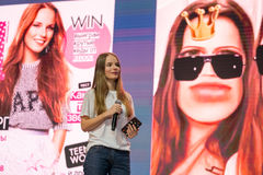 Famous Russian blogger and vlogger Sasha Spilberg Royalty Free Stock Photography