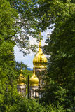 Famous russian orthodox church with golden copula Royalty Free Stock Photography