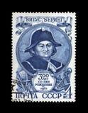Vitus Bering, famous russian seafarer, circa 1981, Royalty Free Stock Images