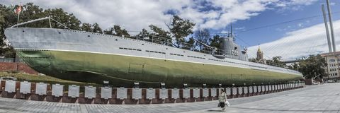 The famous Russian submarine. royalty free stock photography