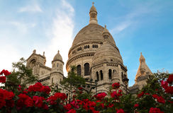 The Famous Sacre Coeur Cathedral, Paris, France Stock Photography