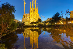 The famous Sagrada Familia Royalty Free Stock Photos