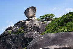 Famous Sail Rock,  symbol of Similan Islands Royalty Free Stock Images