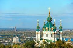 Famous Saint Andrew's church. Kiev, Ukraine Stock Photography